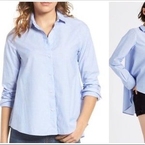 Madewell Westlight buttons high low shirt blouse S